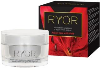 RYOR Argan Care with Gold crema de noche con oro y aceite de argán