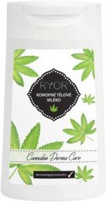 RYOR Cannabis Derma Care latte corpo alla canapa per pelli molto delicate con tendenza alle irritazioni e agli arrossamenti
