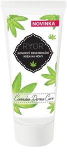RYOR Cannabis Derma Care cremă pentru regenerarea pielii cu cânepă pentru picioare