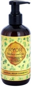 RYOR Wellness and Spa Beer Cosmetics pivný balzam na vlasy s keratínom