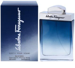 Salvatore Ferragamo Subtil Pour Homme Eau de Toilette para homens 100 ml