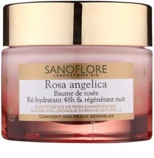 Sanoflore Rosa Angelica зволожуючий нічний крем з відновлюючим ефектом