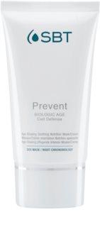 SBT Prevent intenzivno vlažilna in hranilna maska proti prvim znakom staranja kože