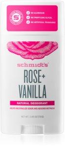 Schmidt's Rose + Vanilla déodorant solide