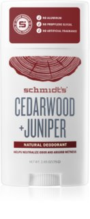 Schmidt's Cedarwood + Juniper déodorant solide sans sels d'aluminium