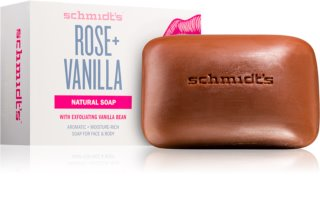Schmidt's Rose + Vanilla savon solide naturel