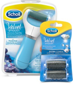 Scholl Velvet Smooth Electronic Foot File + 2 Replacement Heads