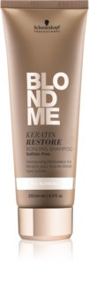 Schwarzkopf Professional Blondme Renewing Shampoo with Keratin For All Types Of Blonde Hair