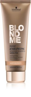 Schwarzkopf Professional Blondme shampoing sans sulfates pour teintes blondes chaudes