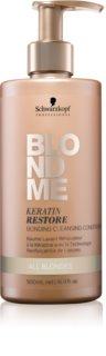 Schwarzkopf Professional Blondme après-shampoing nettoyant pour tous types de blonds