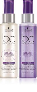 Schwarzkopf Professional BC Bonacure Keratin Smooth Perfect kétfázisú szérum a rakoncátlan és töredezett hajra