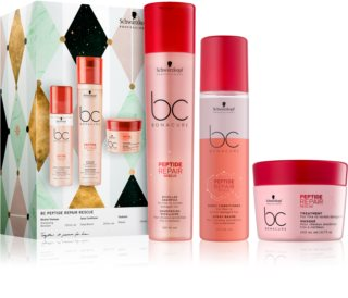 Schwarzkopf Professional BC Bonacure Peptide Repair Rescue Gift Set (For Fine And Damaged Hair)