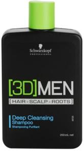 Schwarzkopf Professional [3D] MEN mélyen tisztító sampon