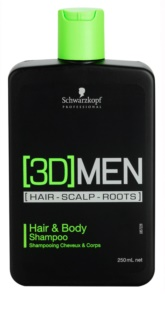 Schwarzkopf Professional [3D] MEN Shampoo And Shower Gel 2 in 1