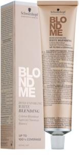 Schwarzkopf Professional Blondme hamvasító krém a fehér hajszálak fedésére