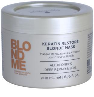Schwarzkopf Professional Blondme αναγεννητική μάσκα κερατίνης για ξανθά  μαλλιά 30cfdf38ce8