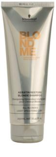 Schwarzkopf Professional Blondme champú regenerador con queratina para cabello rubio