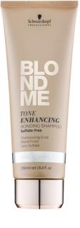 Schwarzkopf Professional Blondme shampoing sans sulfates pour nuances de blond froides