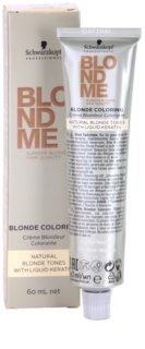 Schwarzkopf Professional Blondme Color  farba do włosów do uzyskania naturalnych odcieni blond