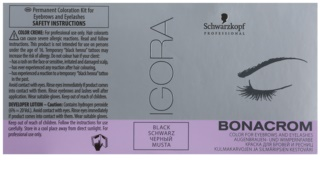 Schwarzkopf Professional Igora Bonacrom βαφή για φρύδια και βλεφαρίδες με ενεργοποιητή