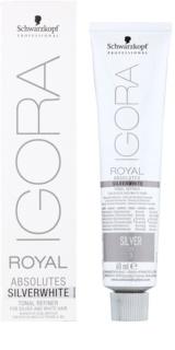 Schwarzkopf Professional IGORA Royal Absolutes SilverWhite demi-permanente Haartönung für garues und weißes Haar