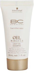 Schwarzkopf Professional BC Bonacure Oil Miracle Marula Oil champú con aceite fórmula ligera para todo tipo de cabello