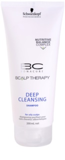 Schwarzkopf Professional BC Bonacure Scalp Therapy tiefreinigendes Shampoo für fettige Haare und Kopfhaut