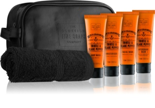 Scottish Fine Soaps Men's Grooming Thistle & Black Pepper Cosmetic Set III.