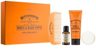 Scottish Fine Soaps Men's Grooming Thistle & Black Pepper Cosmetic Set II.