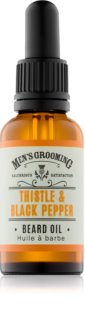 Scottish Fine Soaps Men's Grooming Thistle & Black Pepper huile pour barbe