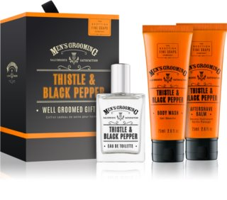 Scottish Fine Soaps Men's Grooming Thistle & Black Pepper darilni set IV. (za moške)