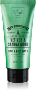 Scottish Fine Soaps Men's Grooming Vetiver & Sandalwood gel za pranje tijela i kose za muškarce