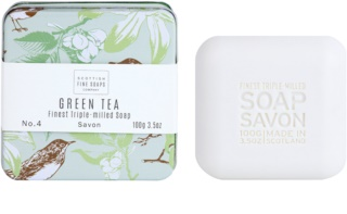 Scottish Fine Soaps Green Tea jabón de lujo en frasco metálico