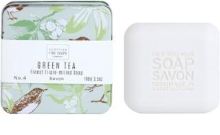 Scottish Fine Soaps Green Tea jabón de lujo en frasco metálico