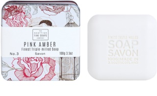 Scottish Fine Soaps Pink Amber Luxe Zeep in Blik