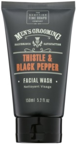 Scottish Fine Soaps Men's Grooming Thistle & Black Pepper  Gel facial de curatare