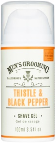 Scottish Fine Soaps Men's Grooming Thistle & Black Pepper gel de rasage