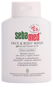 Sebamed Wash loção de lavagem suave para rosto e corpo para pele sensível