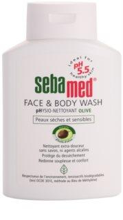 Sebamed Wash loção de lavagem suave para rosto e corpo com azeite