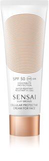 Sensai Silky Bronze crema solar antiarrugas SPF50