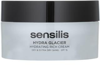 Sensilis Hydra Glacier hydratisierende und nährende Creme LSF 15
