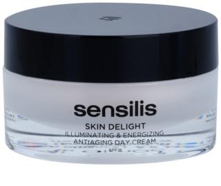 Sensilis Skin Delight creme antirrugas para dar luminosidade e vitalidade à pele SPF 15