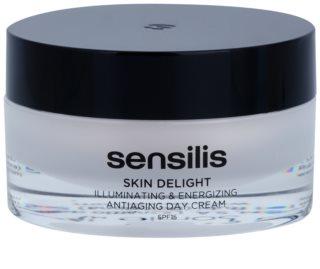 Sensilis Skin Delight crème illuminatrice et revitalisante anti-rides SPF 15