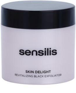 Sensilis Skin Delight revitalisierendes Peeling mit Aktivkohle zum Aufhellen der Haut
