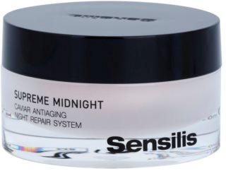 Sensilis Supreme Midnight creme noturno regenerador com efeito antirrugas