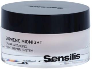 Sensilis Supreme Midnight crema de noche de regeneración profunda con efecto antiarrugas