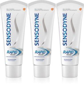 Sensodyne Rapid Whitening dentífrico branqueador para dentes sensíveis