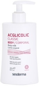 Sesderma Acglicolic Classic Body leite corporal refirmante com efeito peeling