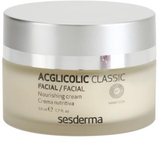 Sesderma Acglicolic Classic Facial odżywczy krem odmładzający do skóry suchej i bardzo suchej