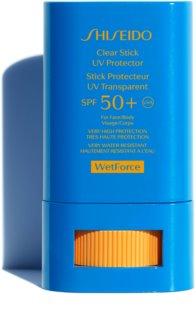 Shiseido Sun Care Clear Stick UV Protector SPF50+ For Face & Body protector solar en barra  SPF 50+